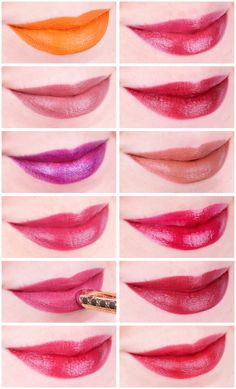 12 wunderbare Herbstlippenstifte von 12 verschiedenen Marken  - mehr auf mel-et-fel.com Lipsticks, Grapefruit, Make Up, Beauty, Beautiful, Branding, Lipstick, Makeup, Beauty Makeup