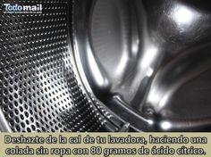 trucos dcomo limpio la lavadora e limpieza