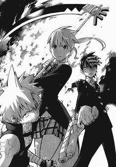 Anime Soul, Soul Eater Manga, Manga Art, Anime Art, Soul And Maka, Manga Covers, Cute Anime Wallpaper, Fanarts Anime, Dark Anime