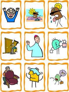Free flash card printables, emotions