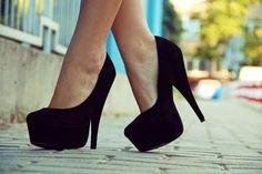 Love these simple black heels
