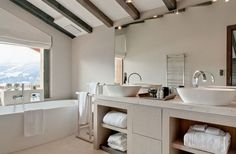 Chalet No14 in Verbier has beautiful bathrooms