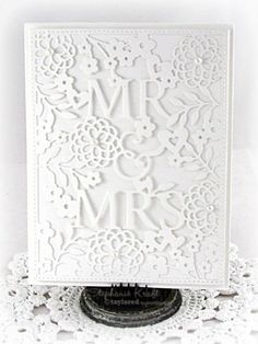 Taylored Expressions Dies - Mr. & Mrs. Cutting Plate | Top Dog Dies