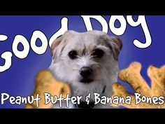 Peanut Butter Banana Dog Treats - YouTube