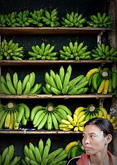 Almost ripe bananas ~ Vietnam