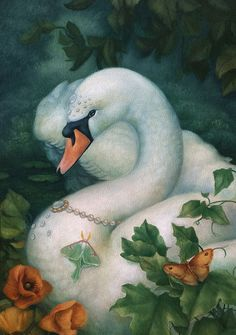 """print of my oil painting """"Luna Swan"""" on archival Hahnemühle fine art paper. Animal Flow, Power Animal, Swans, Swan Pictures, Swan Love, Legends And Myths, Watercolor Pictures, Fauna, Large Art"""