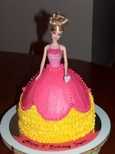 What a doll! - Chocolate cake, filled and frosted with buttercream.