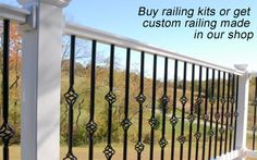 vinyl porch railing ideas - Google Search