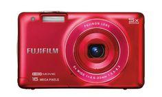 Fujifilm FinePix JX660 16 MP Digital Camera with 3.0-Inch LCD (Red) (Certified Refurbished)