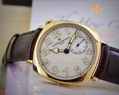 JUST IN: Cushine Shaped Vacheron Constantin 82035 Historiques American 1921, New York Boutique Edition (Limited to 64 Pieces) in 18K Yellow Gold. Reference:  82035/000J-9717, 82035000J9717 @ www.europeanwatch.com