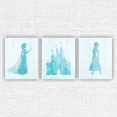 Disney Frozen Wall Art Elsa Anna Castle by myfavoritedecor on Etsy