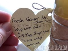 how to make DIY Ginger Syrup for homemade soda ~ Creative Green Living