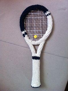Tennis racket amigurumi by Milena Jovicic