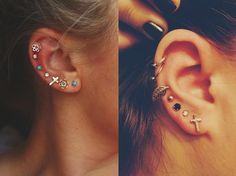 ear piercings tumblr - Buscar con Google