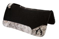 Best Ever Pads - OG Wool - Gray Brindle - Black Leather Pistols - Saddle Pads, Horse Tack, Custom Tack, Western Tack, Rodeo, Horses