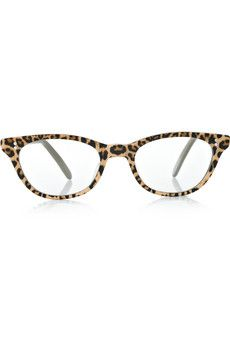 bb849237f97 Cutler and Gross - D-frame leopard-print acetate optical glasses