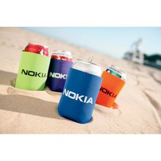 Collapsible Koozie Can Cooler -- A fun wedding favor to give your guests if you're having canned beer or soda at your reception!