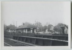 Vintage Erie Railroad Station Depot Suffern New York NY snapshot photos  #Collectible