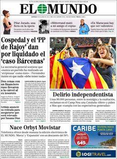 Los Titulares y Portadas de Noticias Destacadas Españolas del 30 de Junio de 2013 del Diario El Mundo ¿Que le parecio esta Portada de este Diario Español?
