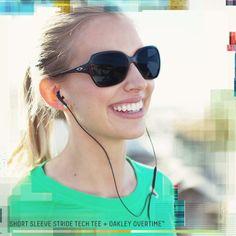 Oakley Overtime sunglass and green short sleeve Oakley Stride Tech Tee.  Cheap Ray Ban Aviators 99b96ead59