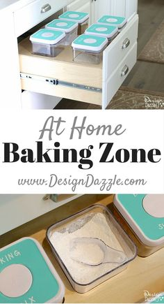 Creative Kitchen Storage Ideas For Consumables. Easy to add to kitchen drawers! Via Design Dazzle