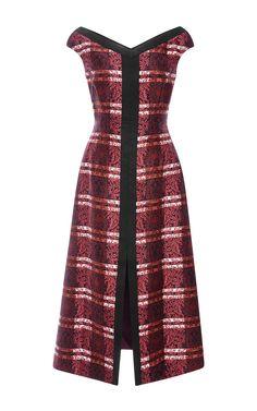 Jolene Printed Silk-Twill Dress by Mother of Pearl - Moda Operandi