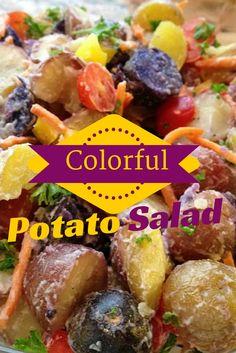 Easy and Healthy Colorful Potato Salad Recipe