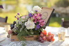 wedding cakes with grapes   Romantic Utah Mountain Wedding - Rustic Wedding Chic