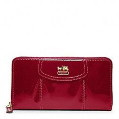 MADISON PATENT ACCORDION ZIP...love shiny red stuff