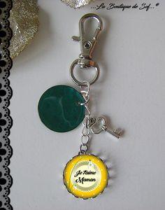 Bijou de sac ou porte-clés avec son cabochon maman (010816) : Autres bijoux par la-boutique-de-sof