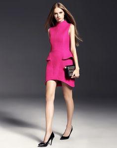 Stylish Jacquard Sleeveless Peplum Hem Mini Dress