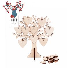 Excited to share the latest addition to my #etsy shop: Party games gift Wish Tree, decor Tree in Gift Box. jewellery holder. Handmade, laser cut. Living room . Present. Gift idea