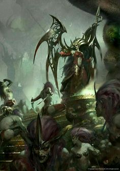 Warhammer Age of Sigmar Fantasy Concept Art, Dark Fantasy Art, Fantasy Artwork, Warhammer Dark Elves, Warhammer Fantasy, Warhammer Aos, Warhammer 40000, Fantasy Witch, Fantasy Warrior