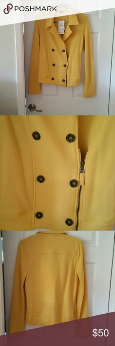 Never worn Splendid peacoat moto jacket Never worn Splendid peacoat moto jacket. Tortoise shell button details. Military style double breast with side zipper. 50% polyester 50% cotton. Very soft and warm. Would be great to layer. Splendid Jackets & Coats Blazers