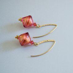 Murano Glass Earrings Murano Glass Beads by ElektraJewelry on Etsy