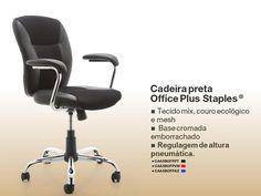 CADEIRA BLACK OFFICE PLUS™ STAPLES®