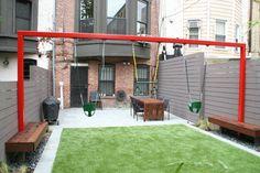 ospect Heights Garden hebben gegeven. Prospect Heights is een buurt in het noordwesten van New York, en het huis is daar gelegen. Little Miracles Designs heeft dus de tuin ontworpen, waar één ding dé eyecatcher vormt. De schom