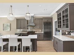 Kitchen of the AII Model at Bishops Pond Southampton Village