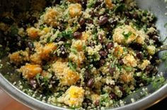 Mango, Black Bean and Couscous Salad  I bet this recipe would work with Quinoa too!