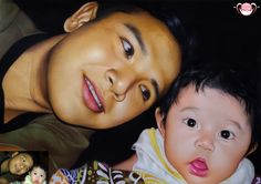 hendra and his nephew by AHS Art