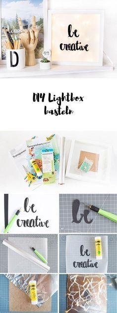 Bau dir deine eigene Lightbox aus einem Bilderrahmen und einer Lichterkette - perfekt als DIY Weihnachtsgeschenk!