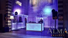 ALMA PROJECT @ FSH Florence - Conventino - Deejay set Eva console - moving heads balcony lighting party3