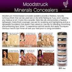 Younique Moodstruck Minerals Concealers https://www.youniqueproducts.com/CarlaValdez