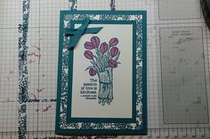 Using the stamps from the new Occassions Catty.  Love is Kindness and Something Lacy stamps.