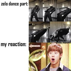 Zelo's dance part. I thought dancing was impossible for tall ppl thn I saw Zelo.    BAP. BABIES
