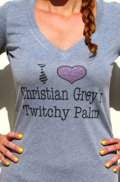 Fifty shades of Grey Inspired I Heart Christian by treebaubles, $25.99