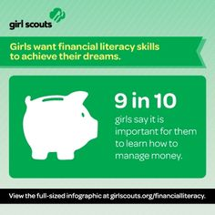 Girls want financial literacy skills to achieve their dreams.