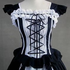 Cute Black Gothic Victorian Dress