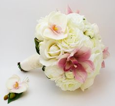 Reserved Peonies & Lace Bridal Bouquet by SongsFromTheGarden