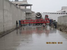 Concrete Road Project in city with minimum site space